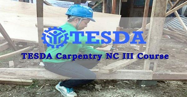 TESDA Carpentry NC III Course
