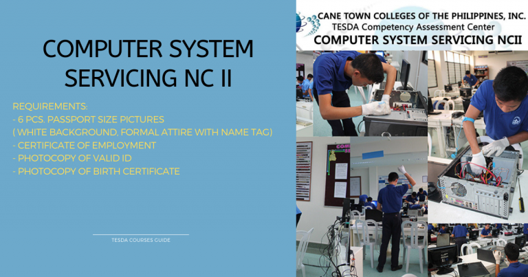Free Assessment for Computer System Servicing NC II