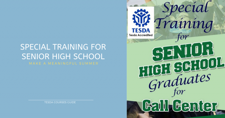 Senior High School Special Training for Call Center Tesda Acceredited