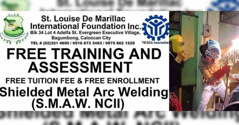 Libreng Shielded Metal Arc Welding (SMAW) NCII