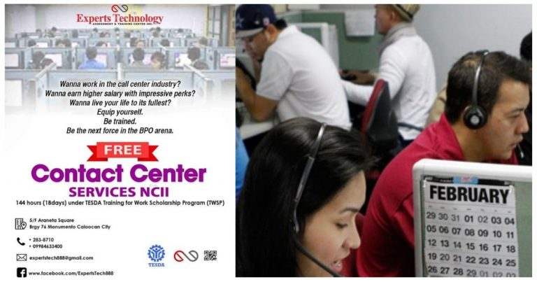 FREE Call Center Training at Experts Technology Assessment and Training Center