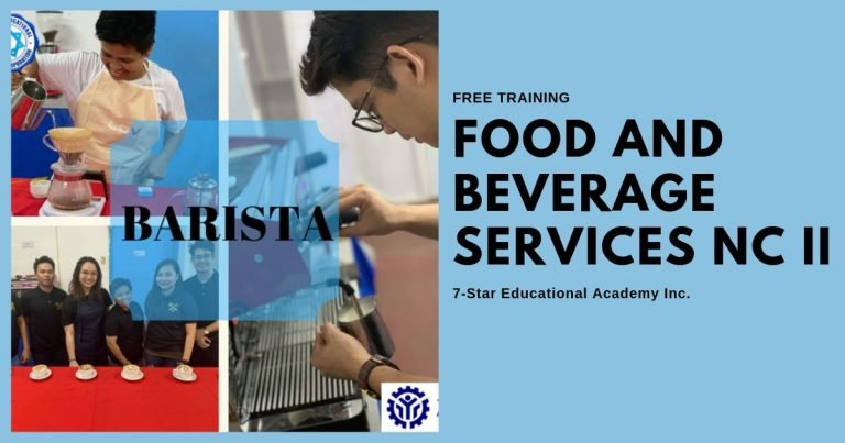 Libreng Barista and Food Beverage Services Training